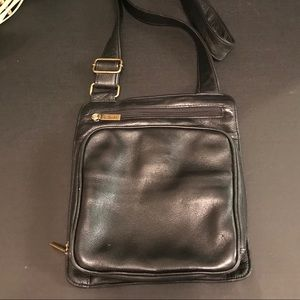 Clark's Black Leather CrossBody Purse